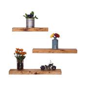 DAKODA LOVE Handmade Rustic Pine Wood Floating Shelves Set of 3