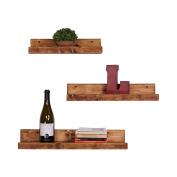DAKODA LOVE Rustic Luxe Floating Shelves, USA Handmade, Pine Wood, Set of 3