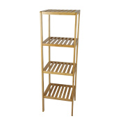 Smart-Home 4 Tier Bamboo Bathroom Shelf Multifunctional Storage Rack Shelving Unit [110cm x 13in x 12.130cm ]