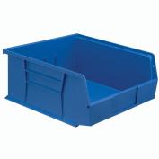 Hanging & Stacking Storage Bin 11 X 10-7/8 X 5, Blue - Lot of 6