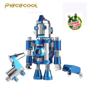 Beginner Piececool 3D Metal Puzzle The Travel Of Hello Cool P064-BS + 2 Tools Inner DIY 3D Laser Cut Models Kit Jigsaw Toys