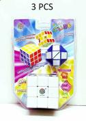 Ik-Onkar 3PCS New Rubik's Cube Rubix Cube Puzzle Mind Game Toy Classic buy