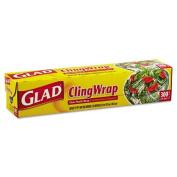 Glad Plastic Cling Wrap, 30cm x 90m, Clear - Includes 12 rolls.