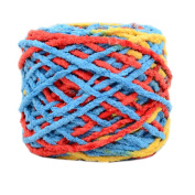 Set of 3 Soft Handmade Gift Crochet Knitted Scarf Kit Cotton Yarns DIY Supplies for Beginners, #22