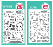 Avery Elle - Furry Friends & More Furry Friends Clear Stamp Sets - 2 Item Bundle