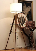 Thor Instruments.Co Thor Vintage Classic Tripod Floor Lamp Nautical Floor Lamp Home Decor Lamp Brown