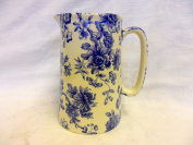 4 Pint Extra Large Jug in Blue Imari design by Heron Cross Pottery.