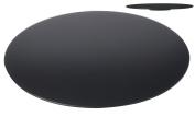 Plain Black Glass Serving Lazy Susan, Rotating 360° Smooth Glass