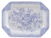 Burleigh Blue Asiatic Pheasants Meat Dish Rectangular Small 25.5 cm