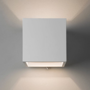 Astro 7260 Pienza 140 Switched Minimalist Double Wall Light in Plaster Finish