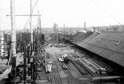 1900 Globe Iron Works Ship Yard, Cleveland Vintage Photograph 33cm x 48cm Reprint