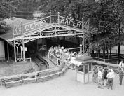 1928 Derby Racer, Glen Echo Park, MD Vintage Photograph 22cm x 28cm Reprint