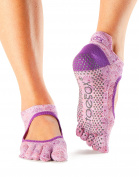 ToeSox Women's Bellarina Full Toe Grip Non-Slip for Ballet, Yoga, Pilates, Barre Toe Socks