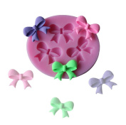 Da.Wa Cake Mould 3 with Bowknot Liquid Silicone Baking Tools Lovely Pink Size.