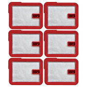 Pyrex 7211-NLC Rectangle Red 6 Cup Vented No-Leak Lid replaces 7211-PC - 6 Pack