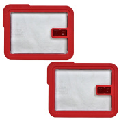 Pyrex 7211-NLC Rectangle Red 6 Cup Vented No-Leak Lid replaces 7211-PC - 2 Pack