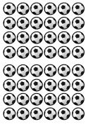 48 Football Soccer Edible PREMIUM THICKNESS SWEETENED VANILLA, Wafer Rice Paper Cupcake Toppers/Decorations