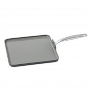 GreenPan Chatham 28cm ceramic Non-Stick Square Griddle, Grey