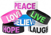 DDI 1935123 Wide Silicone Bracelet With Sayings