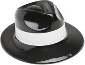 DDI 1878024 Black Plastic Gangster Hat Party Favour