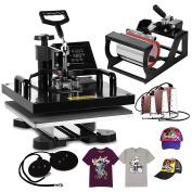 BestEquip Heat Press Machine 8 in 1 Digital Transfer Sublimation T Shirt Heat Press 15x15 Inch Heat Press for T-shirt Hat Mug Plate Cap