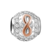 Soufeel Love of Infinity Charms 18K Rose Gold 925 Sterling Silver Fit European Bracelets and Necklaces