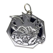 Real Sterling silver 925 Heavy Goku Sterling Silver Dragonball Z pendant Charm