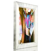 Craig Frames Gesso, White Plain Wooden Picture Frame, 22cm by 28cm