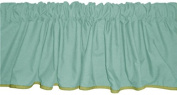 Baby Doll Bedding Reversible Window Valance, Yellow/Mint