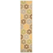 Safavieh Martha Stewart Collection MSR1843A Quilt Cotton Area Runner, 0.6m by 3m, Cream