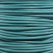 """#17 Turquoise Round Leather Cord 3mm (1/8"""") x 50 metres"""