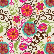 Jillson Roberts Bulk 240-Sheet Count 50cm x 80cm Designer Printed Tissue, Happy Flower