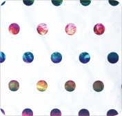 Jillson Roberts Bulk 200-Sheet Count 50cm x 80cm Hot Stamped Tissue, Rainbow Metallic Dots