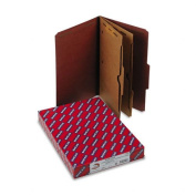 SMEAD MANUFACTURING CO., Pressboard Folders with Two Pocket Dividers, Legal, Six-Section, Red, 10/Box