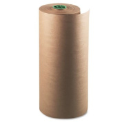"""Kraft Paper Roll, 23kg., 60cm """" x 300m, Natural, Sold as 1 Roll"""