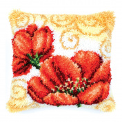 Two Poppies Latch Hook Kit