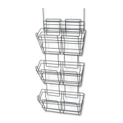 "Safco - Panelmate Triple-File Basket Organiser 15 1/2 X 29 1/2 Charcoal Grey ""Product Category"
