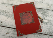 Unusual Handmade Designer Notebook with Lock Diary of a Madman Office Stationery Supplies