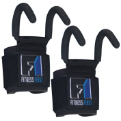 FIT1ST Fitness First Heavy Duty Weight Lifting Hooks