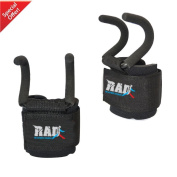 RAD Heavy Duty Weightlifting Rod Hooks Wrist Support Straps Power Gripper Chin Up New