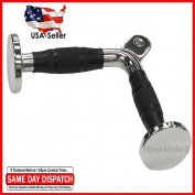 Tricep Press Push Down Bar V Handle Close Grip Cable Multi Gym Attachment Pro Tricep V-Bar with Rubber Handgrips