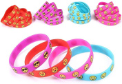 36 Assorted Emoji Wristband Bracelets - Birthday Party Favour Toys