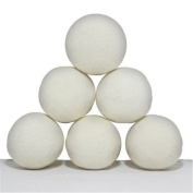 HENGSONG Dryer Balls Wool 6-Pack Reusable Natural Fabric Softener Reduces Drying Time