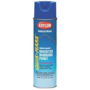 Quik-Mark™ Water-Based Fluorescent Caution Blue Inverted Marking Paint [Set of 12]