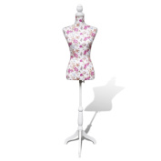 Anself Female Dress Forms Display Bust, White Cotton