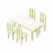 Sankei 1/150 Diorama Option Kit Table and Chair a Mp04-82 (Paper Craft) Sankei