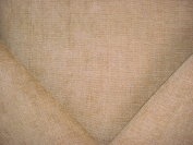 98H31 - Wheat Velverty Plains Chenille Designer Upholstery Drapery Fabric - By the Yard