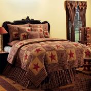 IHF Home Decor Queen Quilt Bedding Vintage Star Wine Design 100% Cotton 230cm x 230cm