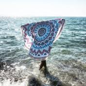 Lookatool Round Hippie Tapestry Beach Throw Roundie Mandala Towel Yoga Mat Bohemian