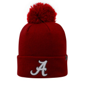 Top of the World 2-Sided Cuff Beanie Hat with POM POM - NCAA Cuffed Knit Cap
